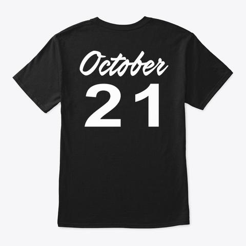 October 21   Libra Black T-Shirt Back