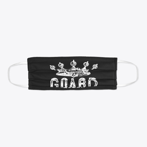 Color Guard Queen   Face Mask Black T-Shirt Flat