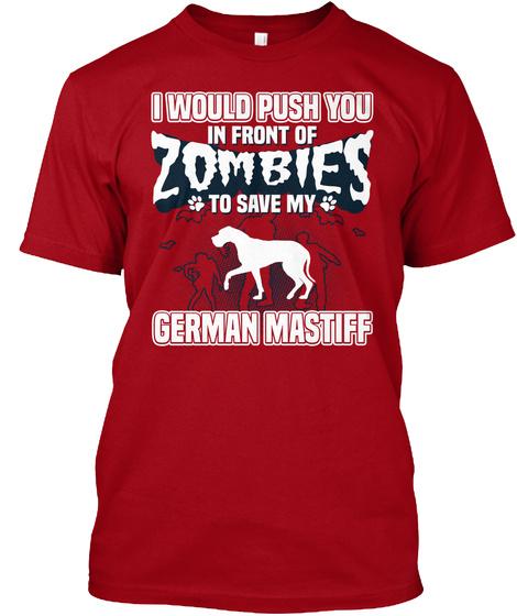 German Mastiff Deep Red T-Shirt Front