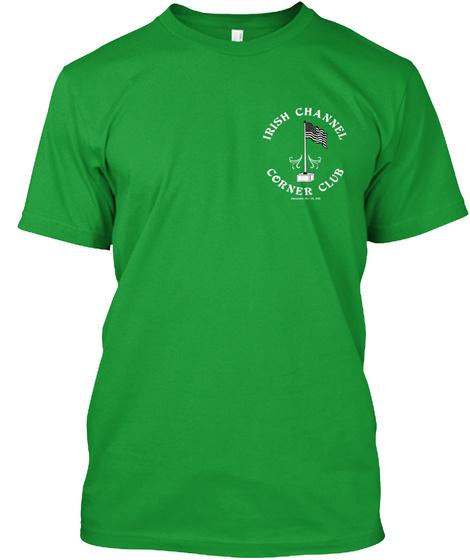 Irish Channel Corner Club Kelly Green T-Shirt Front