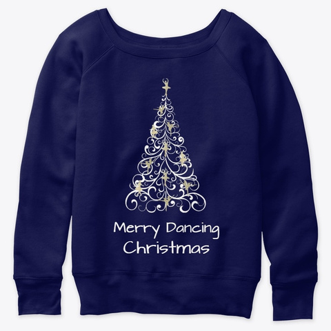 Merry Dancing Christmas   Navy  T-Shirt Front