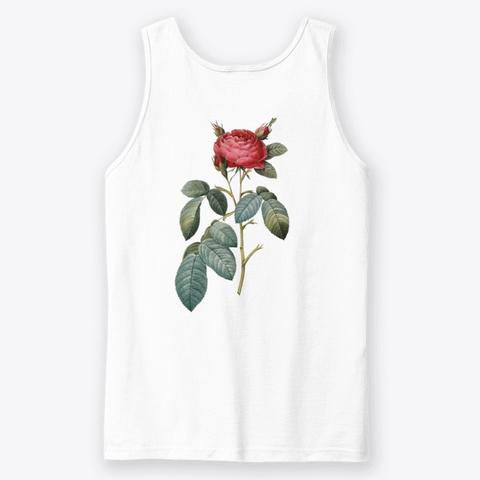 Ivie Tank  White T-Shirt Back