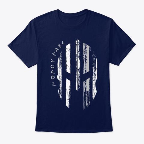 Brain Cancer Awareness Spartan Warrior Navy T-Shirt Front