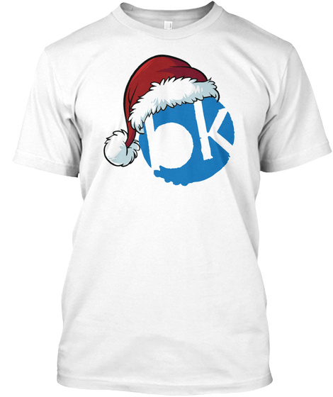 Santa Hat For The Holidays!! T Shirt White T-Shirt Front