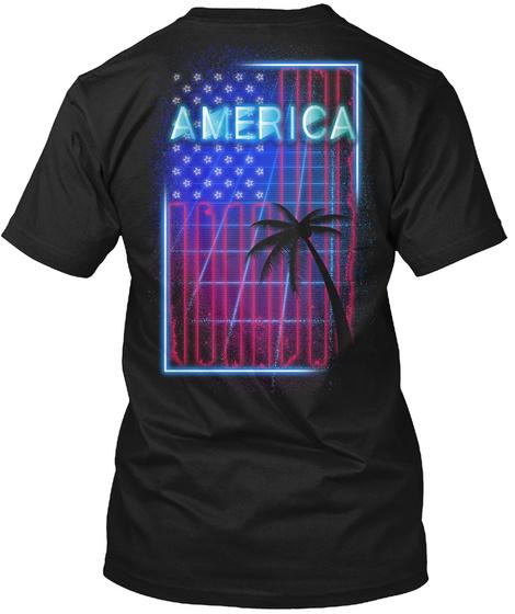 America Black T-Shirt Back