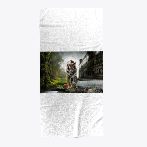 Tiger/Towel Standard T-Shirt Front