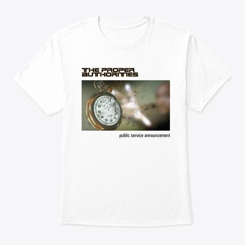 Public Service Announcement Cover Art 2 White T-Shirt Front