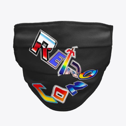 Retro Con Face Mask Black Maglietta Front