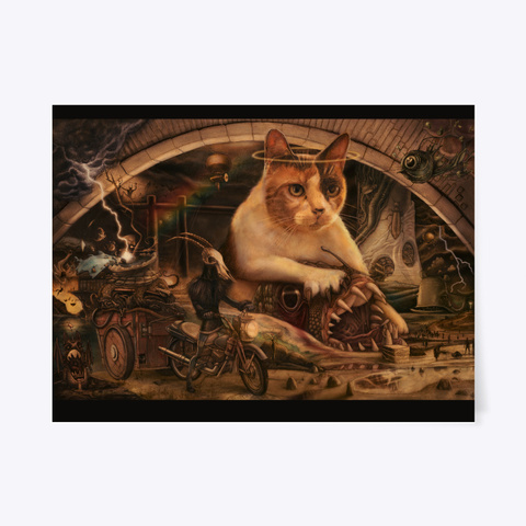 Creationist Cat: Harrowing Of Hell Poster Standard T-Shirt Front