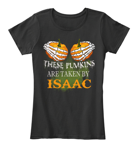 These Pumkins Are Taken By Isaac Black T-Shirt Front