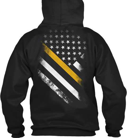 Dispatcher 911  Black T-Shirt Back