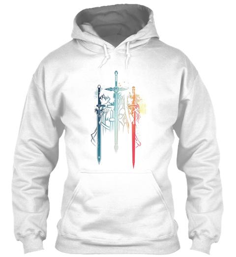 Sword Art Online Kirito Asuna Anime White T-Shirt Front