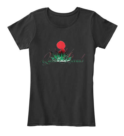 Queen Prevails Black T-Shirt Front