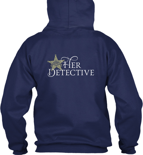 Her Detective Navy T-Shirt Back
