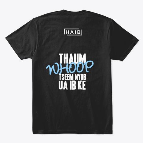 Haib White Logo Whoop Black T-Shirt Back