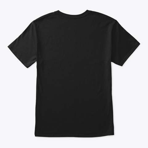 Pinky Whale  Black T-Shirt Back