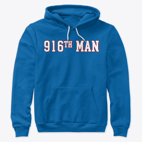 916th Man Shirt Retro True Royal T-Shirt Front