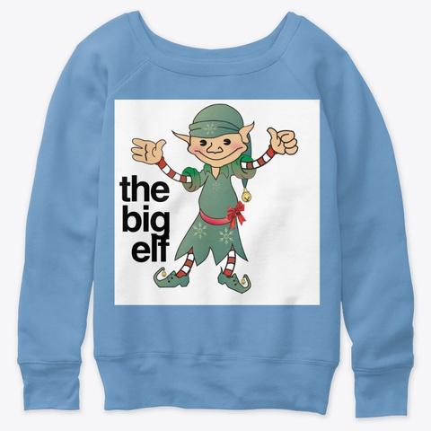 The Big Elf Blue Triblend  T-Shirt Front