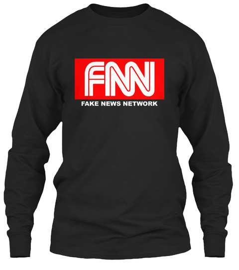 Fnn Fake News Network Black T-Shirt Front
