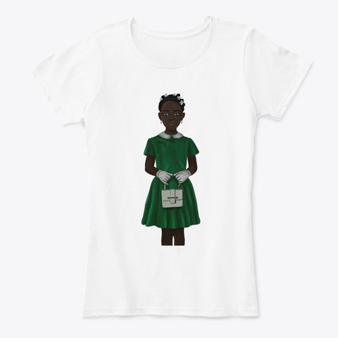 African American Kid   Royal Twists Hair White T-Shirt Front