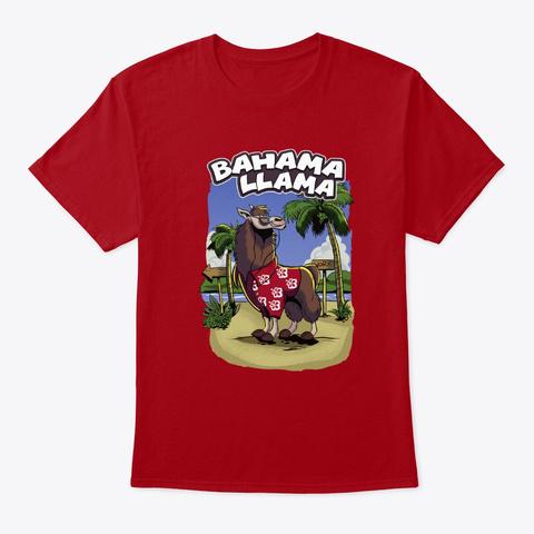 Bahama Llama   Cocktail Holidays Chill Deep Red T-Shirt Front