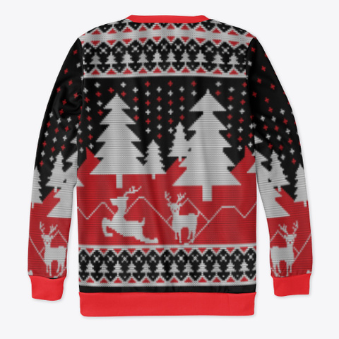 The Christmas Sweatshirt Black T-Shirt Back