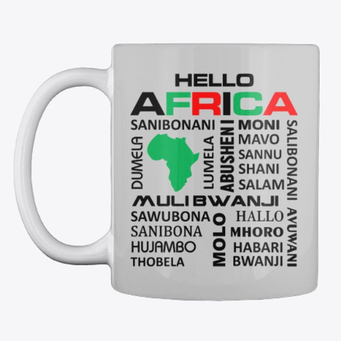 Hello Africa Light Grey T-Shirt Front