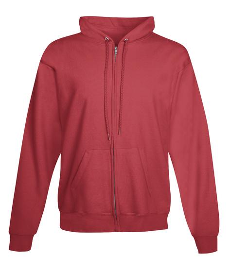 Black Queen Zip Front Hoodie Deep Red T-Shirt Front