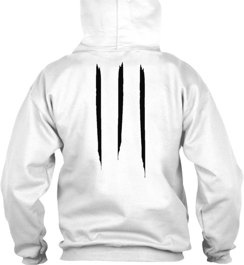 "Promotion Hoodie ""Digital"" White T-Shirt Back"