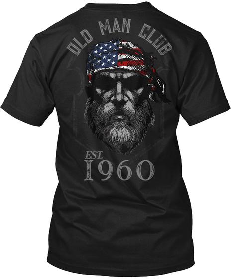 1960 Old Man Club Black T-Shirt Back