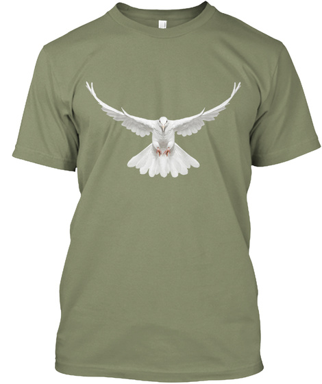 Dove Light Olive T-Shirt Front