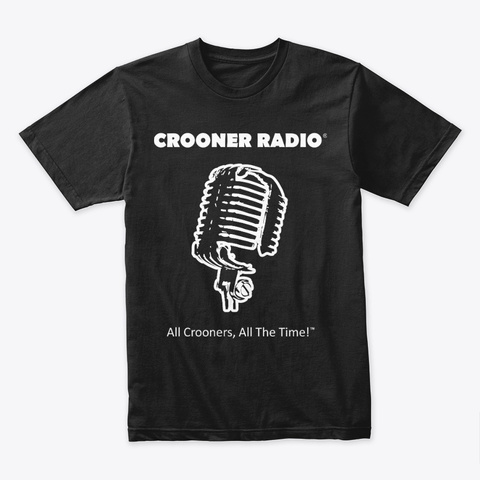 Office Crooner Radio Merchandise Black T-Shirt Front