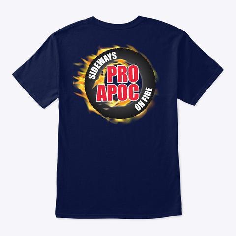 Pro Apoc Race Standard Navy T-Shirt Back