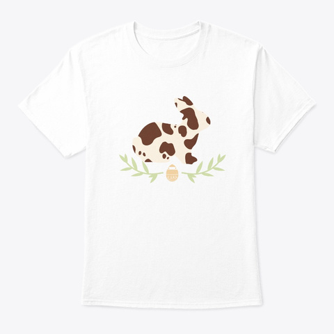 Easter Sunday Bunny Fur Womens And Girls White T-Shirt Front