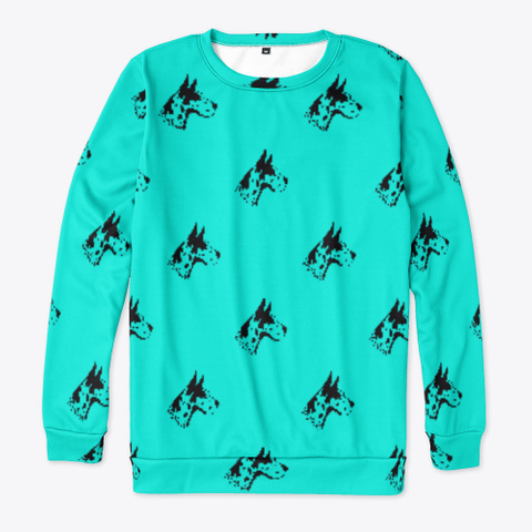 Blue Great Dane Pattern Sweatshirt Standard T-Shirt Front