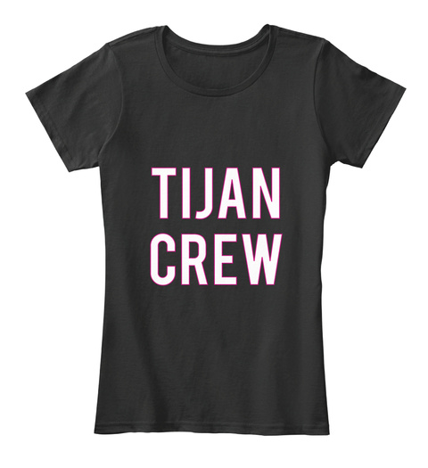 Tijan Crew Black Women's T-Shirt Front
