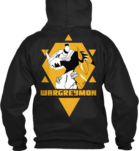 Wargreymon Black T-Shirt Back