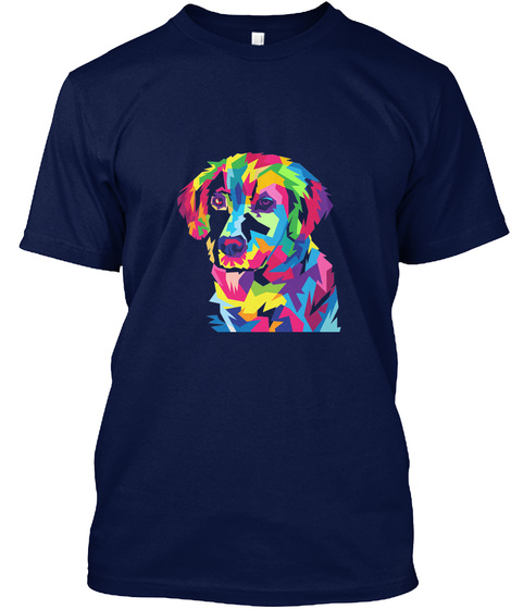 Dogs Love Navy T-Shirt Front