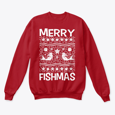 Merry Fishmas Deep Red  T-Shirt Front
