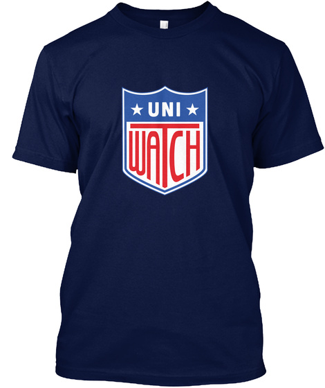 Uni Watch Navy T-Shirt Front