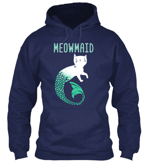 Meowmaid Navy Sweatshirt Front