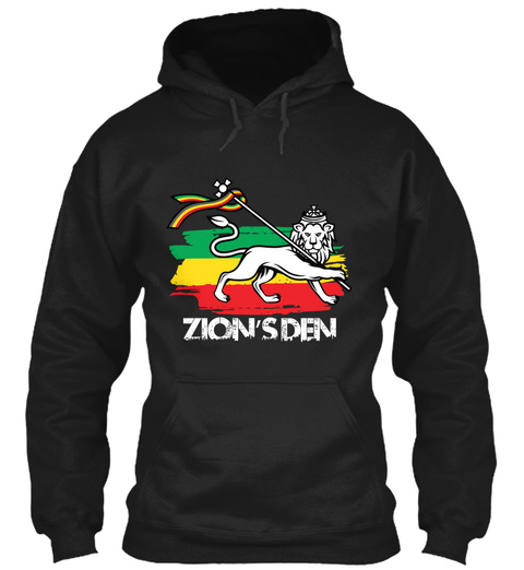Lion's Den Lion Hoodie Black T-Shirt Front
