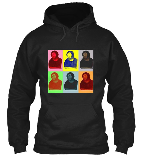 Ecce Homo Warhol Pop Art Style Black T-Shirt Front