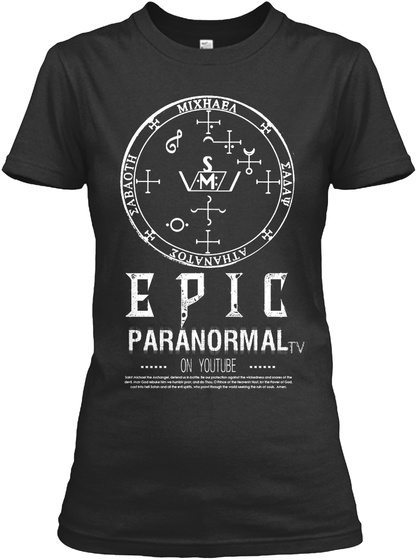 Epic Paranormal On You Tube Black Women's T-Shirt Front