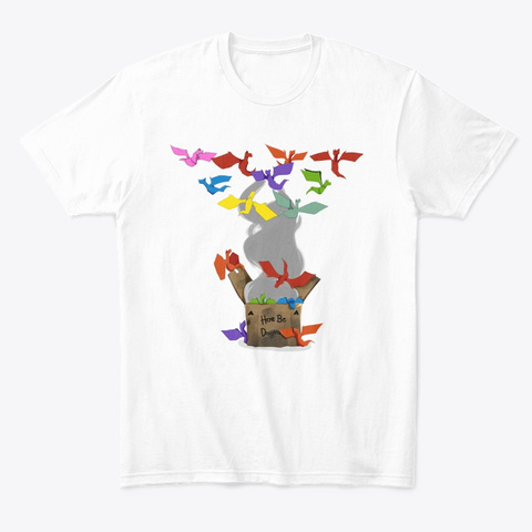 Scp 1762: Where The Dragons Went Dc64 White T-Shirt Front