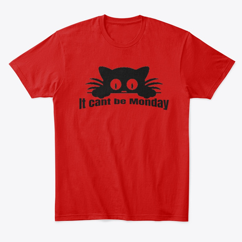 Cats On Monday Cute Kitten T Shirt Classic Red T-Shirt Front