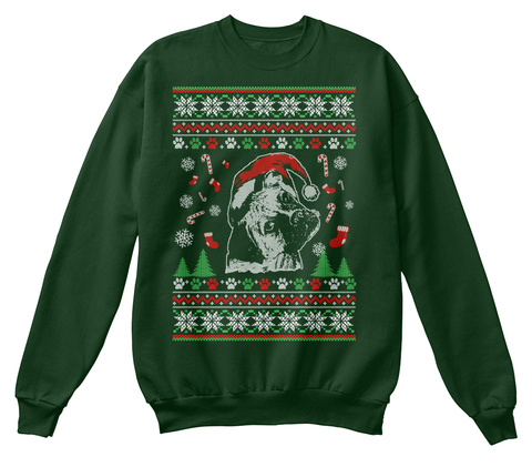 Dog Christmas Gifts Boxer Ugly Sweater Deep Forest  T-Shirt Front