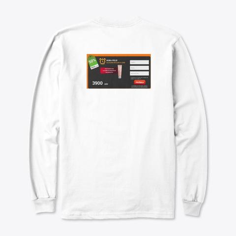 Celulhouette Argentina White T-Shirt Back
