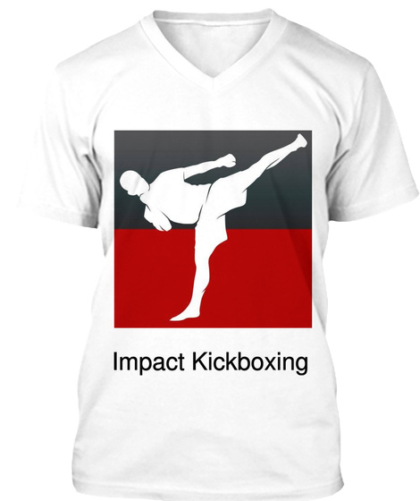 Impact Kickboxing White T-Shirt Front