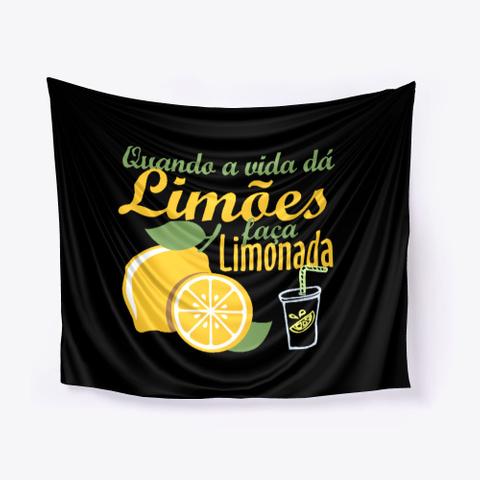 Limões São Para Limonadas Black T-Shirt Front